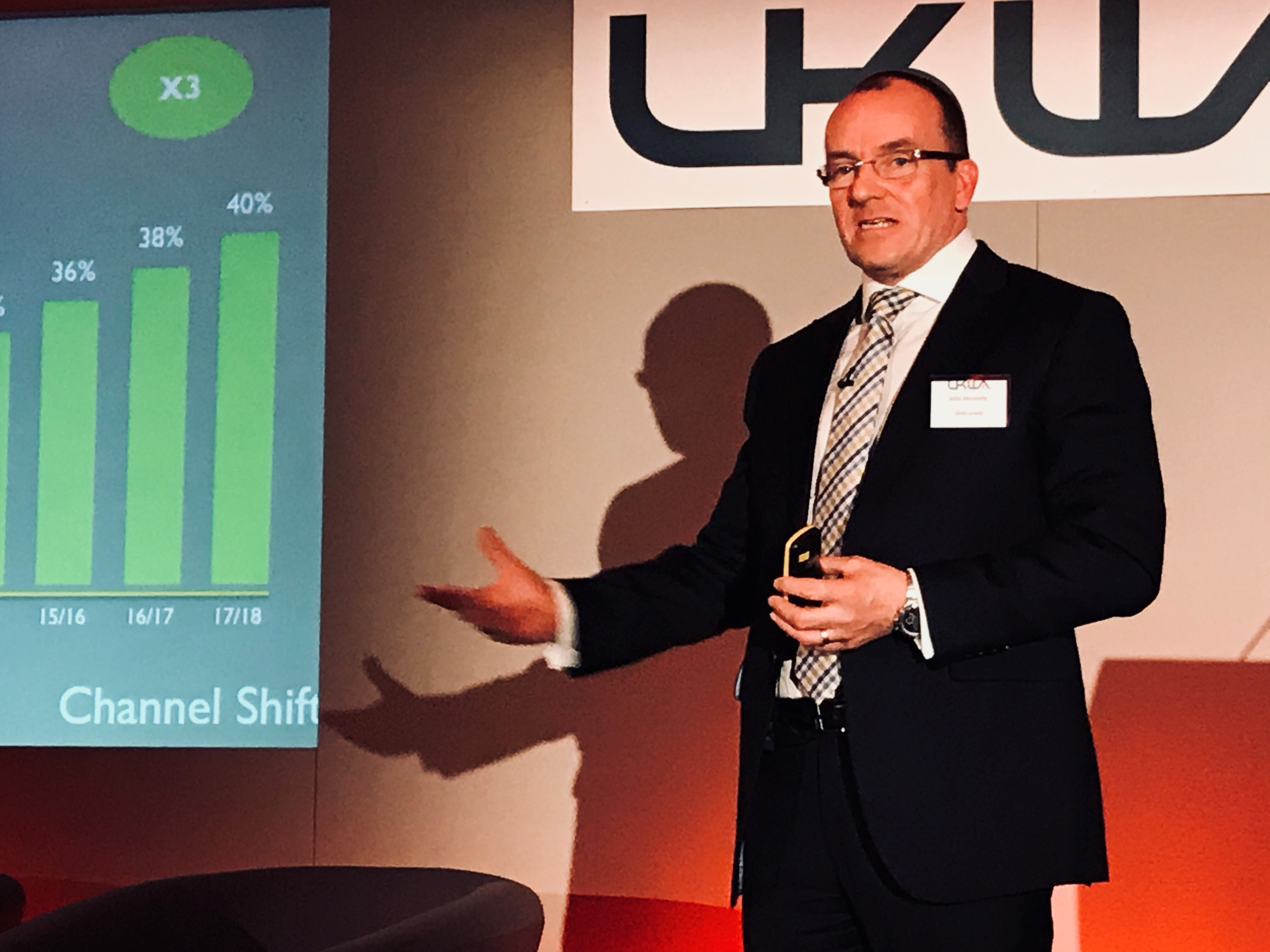 John Munnelly from John Lewis Partnership talks at the UKWA National Conference