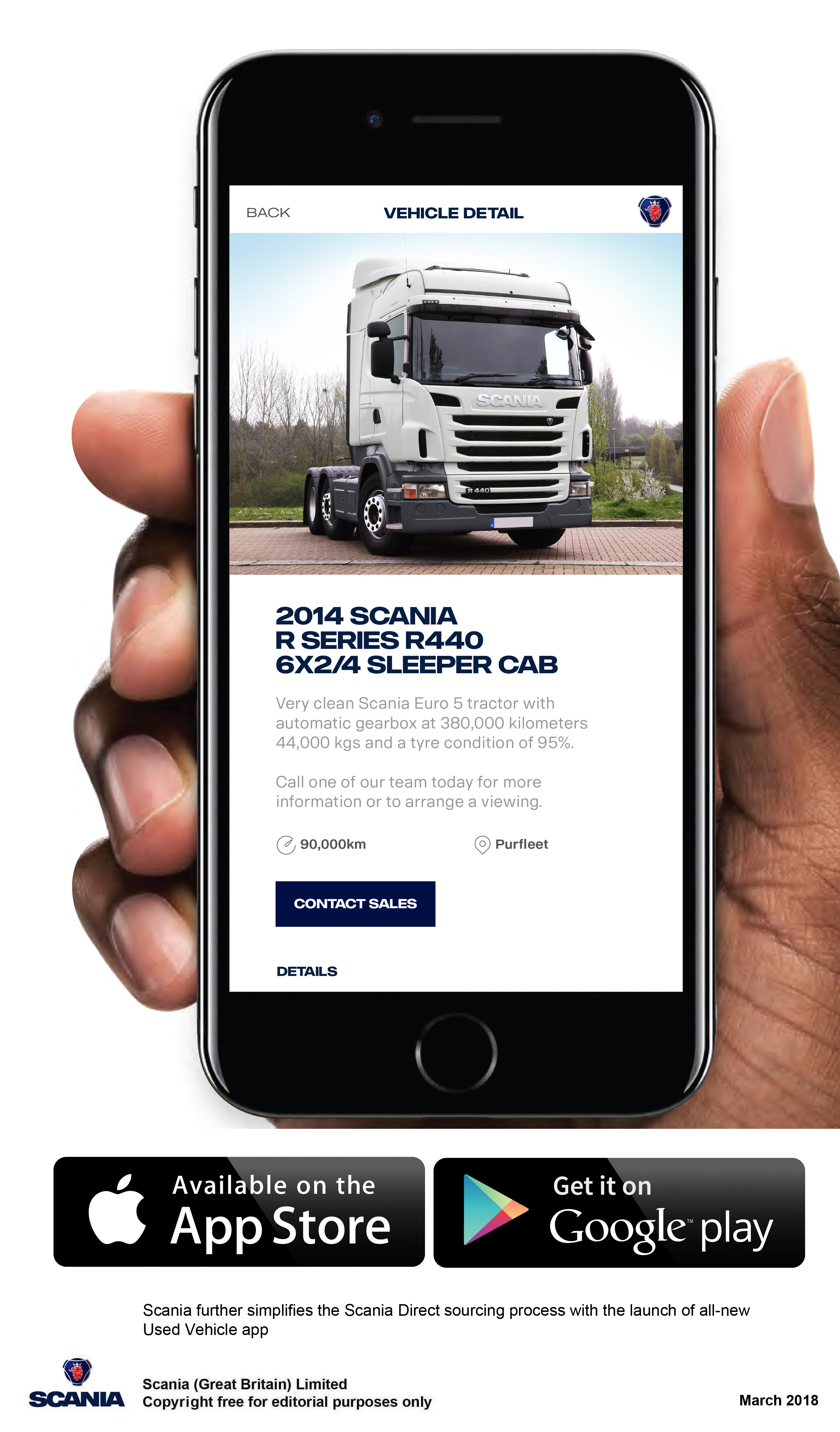 Scania Direct's Used Vehicle App
