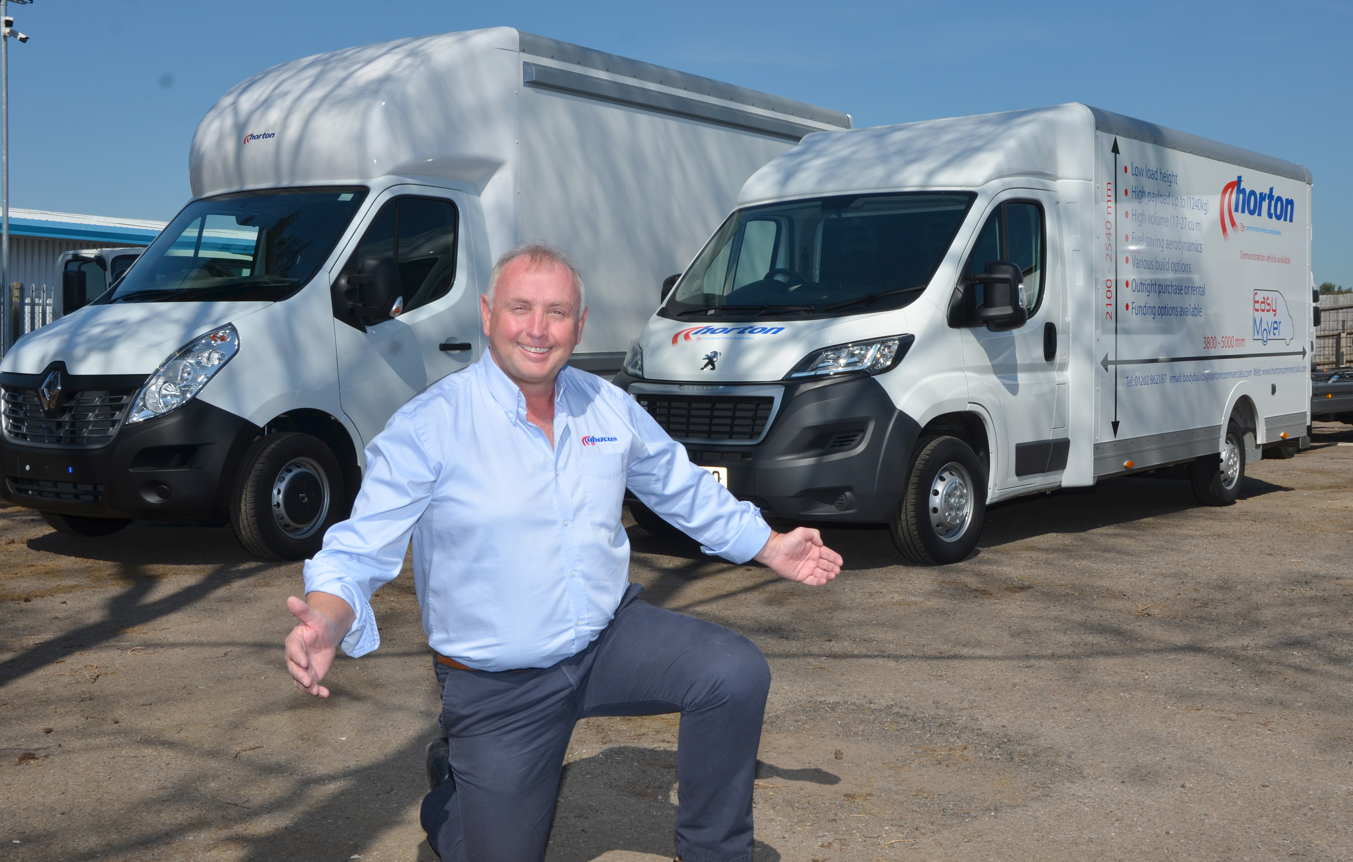 Dave Wolfenden with new Easymover vans