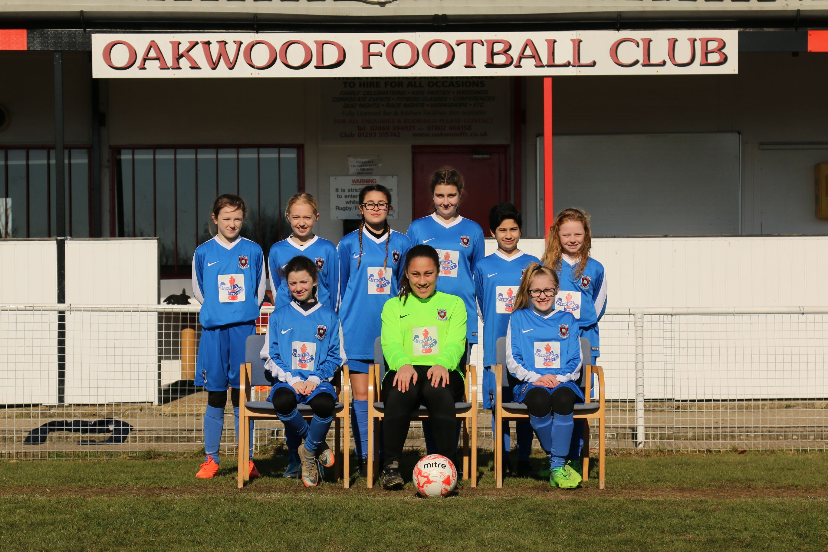 The Oakwood Under 12s Girls' football team