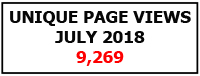 Unique page views July 2018