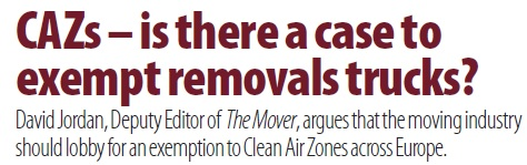 CAZ - is there a case to exempt removals trucks?