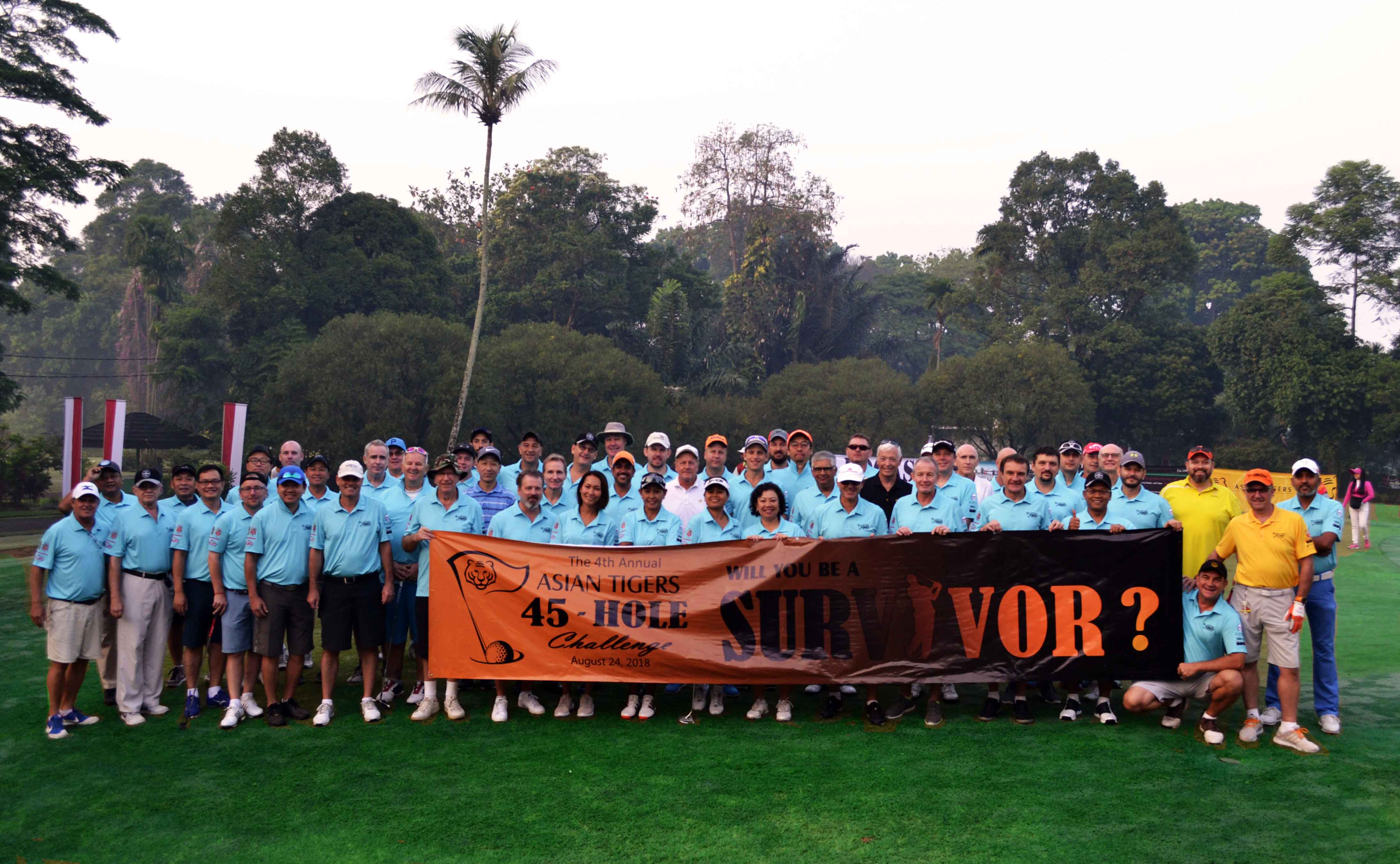 Competitors at the 4th annual 45-hole golf challenge