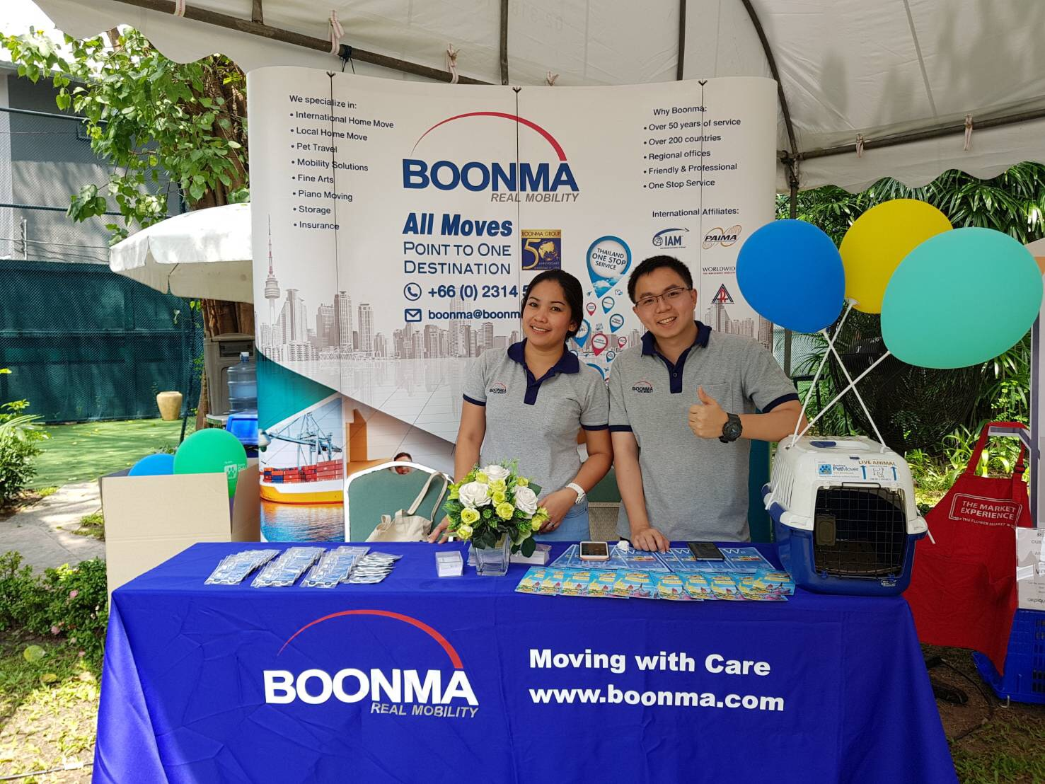 Boonma exhibition stand