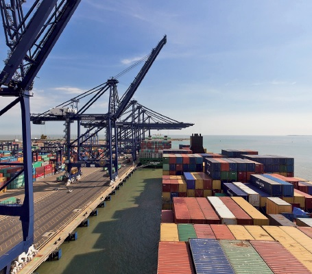 The port of Felixstowe is a member of the UK Major Ports Group