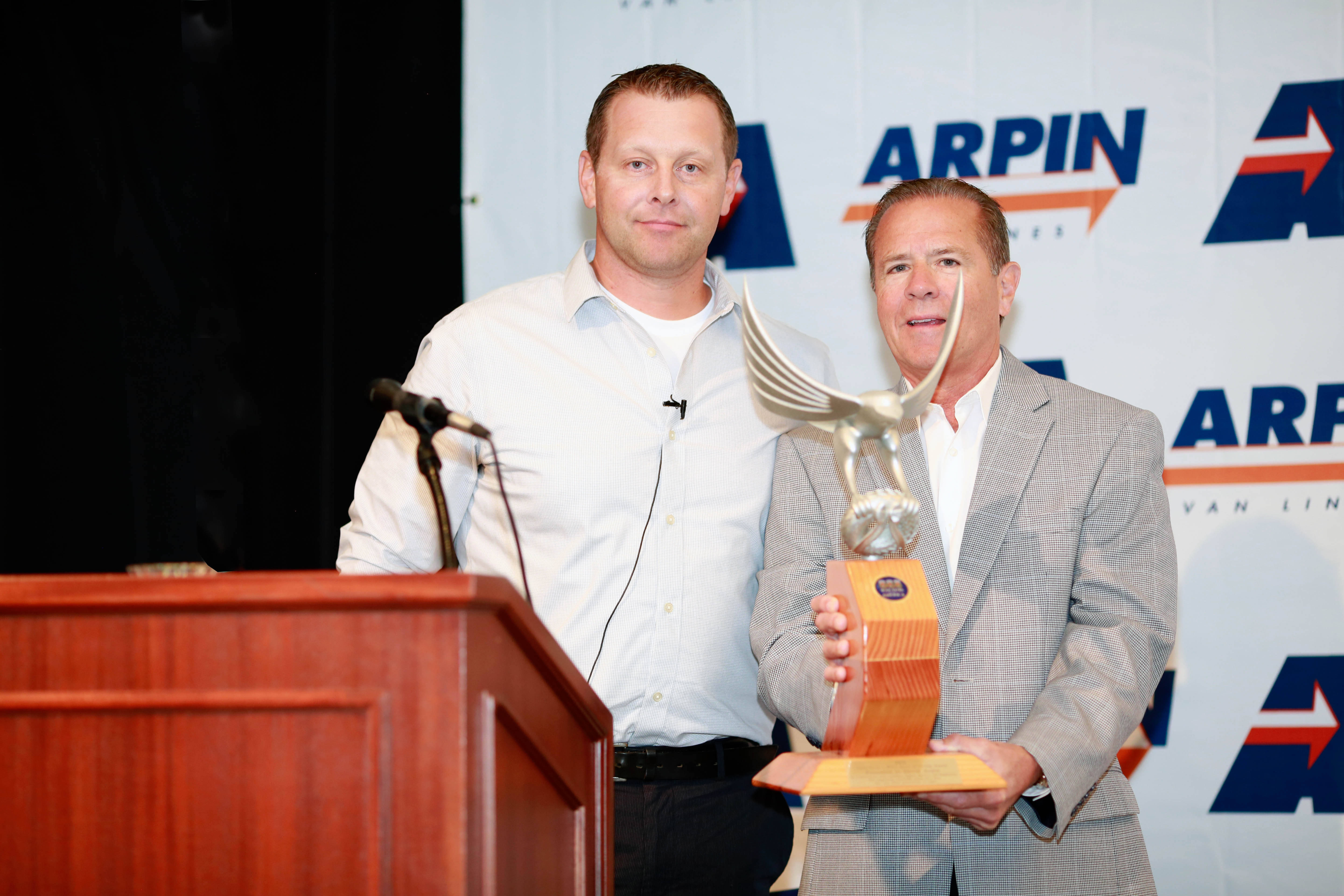 David Arpin receiving award form Rob Worcester