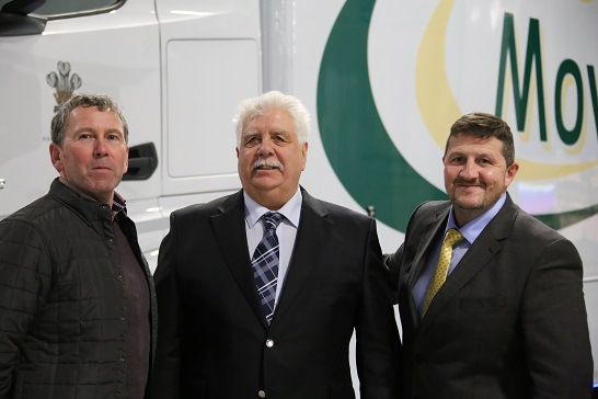 Terry Sinott (centre) with Mark Edwards, Works Manager (left) and Rob Hampton, General Manager