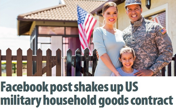 Facebook post shakes up US military household goods contract