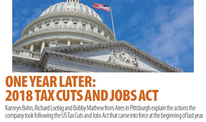 One year later - 2018 tax cuts and jobs act