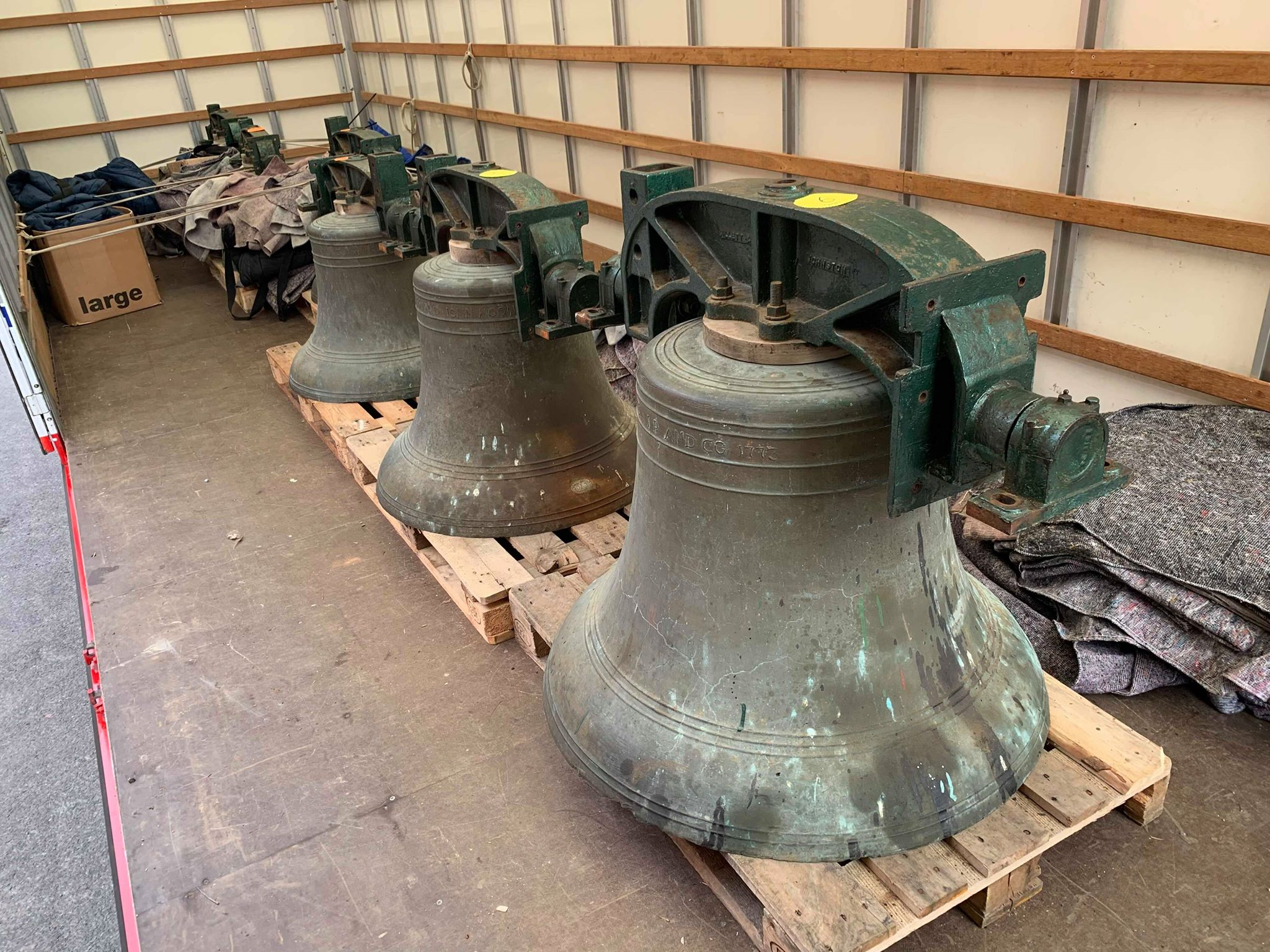 Church Bells ready for their journey