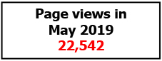 Page views May 2019