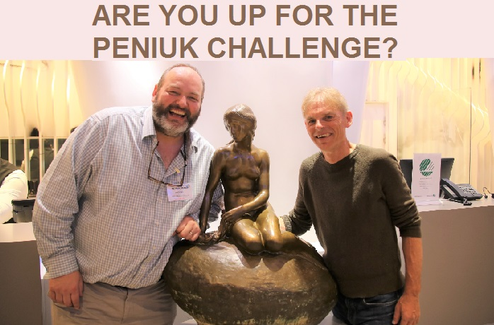 Richard Dolan, accepting the first ever Peniuk Challenge
