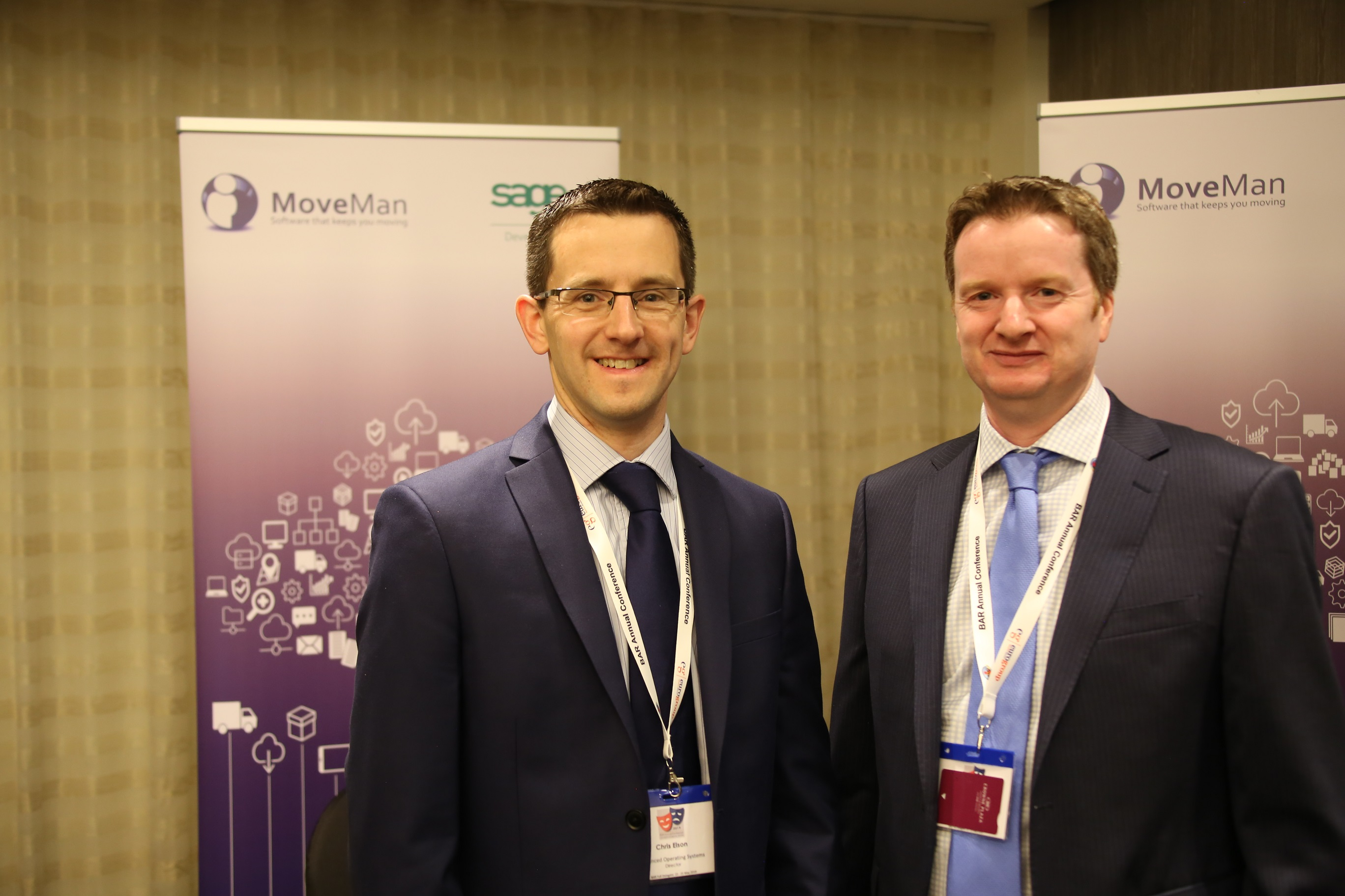 Chris Elson (left) and Simon Maystre from Moveman