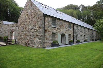 The restoration of the out-buildings, including five cottages, is nearing completion
