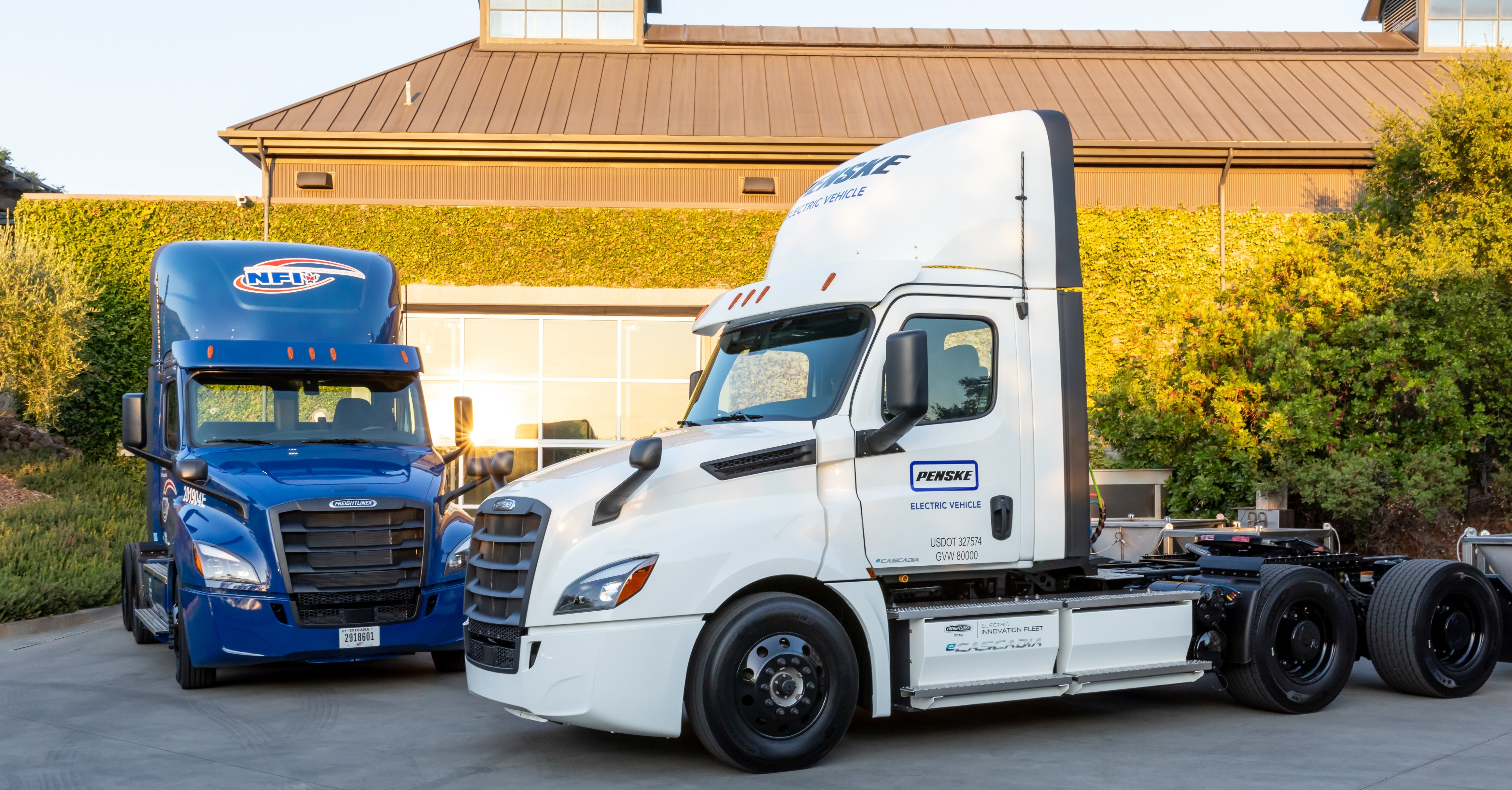 Daimler's first all-electric heavy trucks