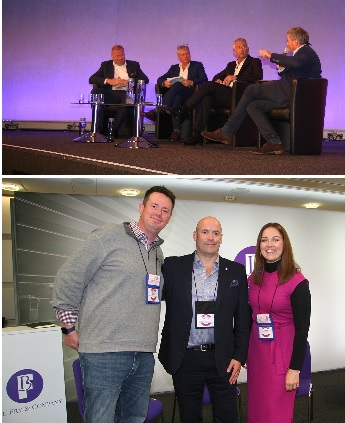 Panel discussion and Basil Fry at the Trade Show