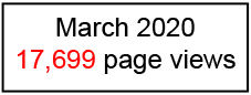 17,699 page views March 2020