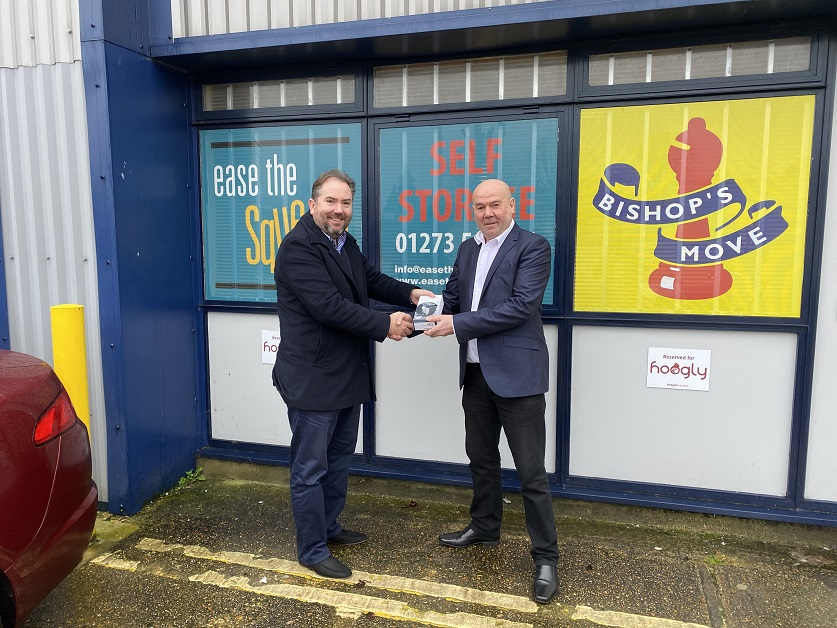 Ease The Squeeze's Brighton Self Store Manager, Bob Baines, is celebrating his 25th year within the Bishop's Move Group.