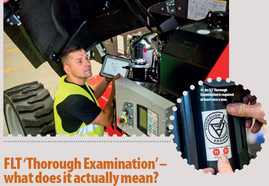 Fork Lift Truck Thorough Examination