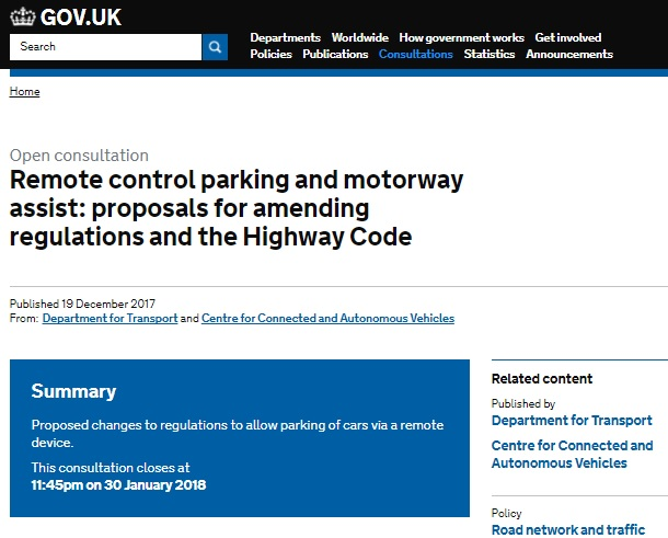 DfT consultation - amendments to the Highway Code