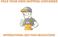 Pack your own shipping container; international self pack relocations.
