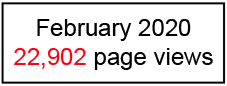 22,902 page views February 2020