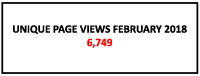 Unique page views February 2018