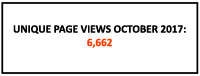 Unique page views in October: 6,662